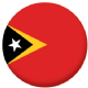 East Timor Country Flag 58mm Button Badge